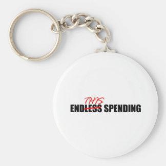 Endless Spending Basic Round Button Keychain