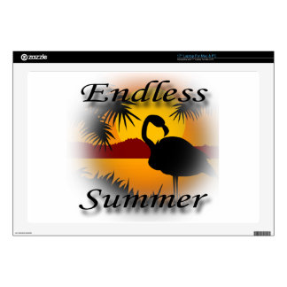 """Endless Summer black Decals For 17"""" Laptops"""
