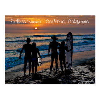 Endless Summer in Carlsbad, California (USA) Postcard