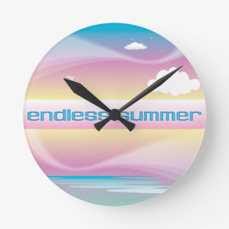 Endless Summer Pastels Round Wallclock