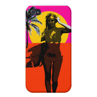 Endless Summer Surf Girl iPhone 4/4S Cases