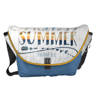 Endless Summer Tropical Vacation Sunset Typography Courier Bag