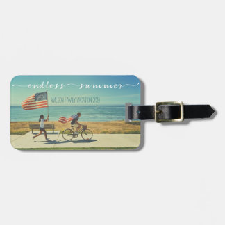 Endless Summer Typography Family Vacation Photos Bag Tag