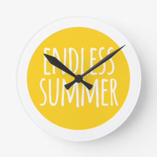 Endless summer word art text design with sun wallclocks
