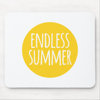 Endless summer, word art, text design with sun mouse pad