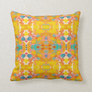 Endless Summer Yellow Tribal Bungalow Pillow
