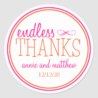 Endless Thanks Labels (Hot Pink / Orange)