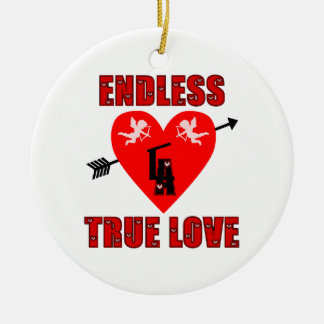 Endless True Love Ceramic Ornament