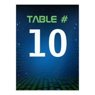 ENDLESS VIDEO GAMING Bar Mitzvah Table Number Card