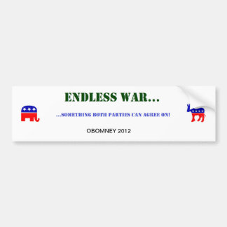 ENDLESS WAR BUMPER STICKER
