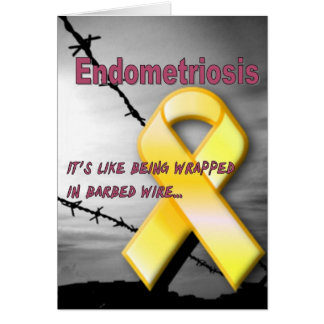 Endo:  It's like being wrapped in barbed wire Card
