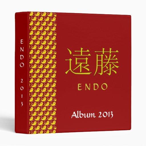Endo Monogram Vinyl Binder