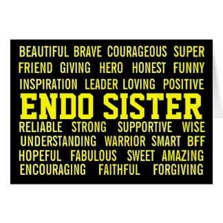 ENDO SISTER ENDOMETRIOSIS-AWARENESS CARD