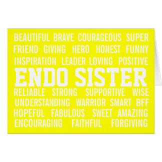 ENDO SISTER ENDOMETRIOSIS-AWARENESS CARD