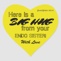 Endo Sister Hug Sticker