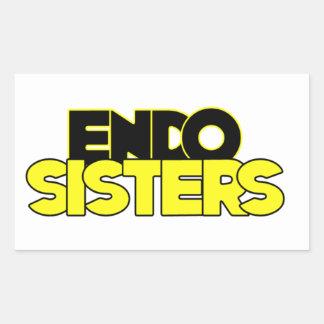 Endo Sisters Rectangular Sticker