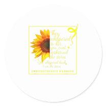 Endo Sunflower Warrior Endometriosis Awarene Classic Round Sticker