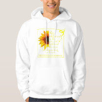 Endo Sunflower Warrior Endometriosis Awarene Hoodie