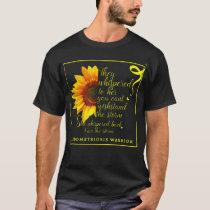 Endo Sunflower Warrior Endometriosis Awarene T-Shirt