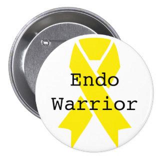 Endo Warrior 3 Inch Round Button