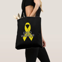 Endo Warrior Endometriosis Awareness Yellow Ribbon Tote Bag