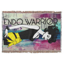 ENDO WARRIOR Throw Blanket