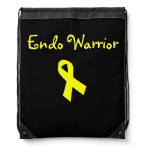 Endo Warrior Yellow Ribbon Drawstring Backpack