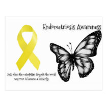 Endobutterfly endometriosis awareness postcard
