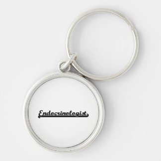 Endocrinologist Classic Job Design Silver-Colored Round Keychain