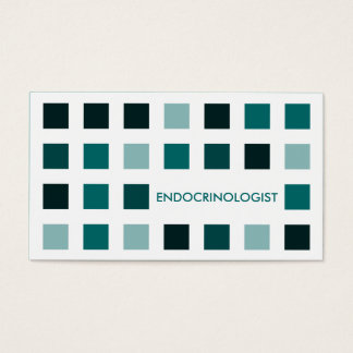 ENDOCRINOLOGIST (mod squares) Business Card