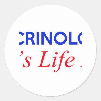 endocrinologists designs classic round sticker