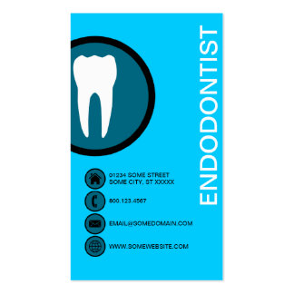 ENDODONTIST bubbles Double-Sided Standard Business Cards (Pack Of 100)