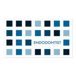 ENDODONTIST (cuadrados de la MOD) Tarjetas De Visita