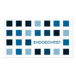 ENDODONTIST (mod squares) Double-Sided Standard Business Cards (Pack Of 100)