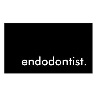 endodontist. (personalizable del color) tarjetas de visita