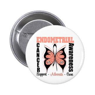 Endometrial Awareness Butterfly Pinback Button
