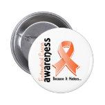 Endometrial Cancer Awareness 5 Pins