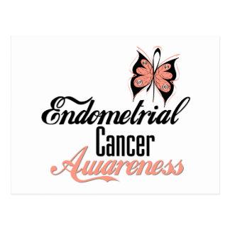 Endometrial Cancer Awareness Butterfly Postcard