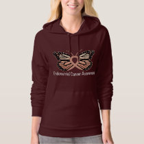 Endometrial Cancer Awareness Butterfly Ribbon Hoodie