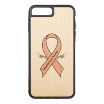 Endometrial Cancer Awareness Carved iPhone 7 Plus Case