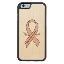 Endometrial Cancer Awareness Carved Maple iPhone 6 Bumper Case