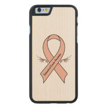 Endometrial Cancer Awareness Carved Maple iPhone 6 Slim Case