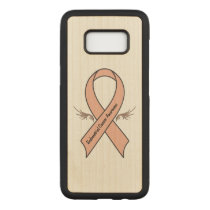Endometrial Cancer Awareness Carved Samsung Galaxy S8 Case
