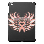 Endometrial Cancer Awareness Heart Wings.png Cover For The iPad Mini