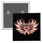 Endometrial Cancer Awareness Heart Wings.png Pins