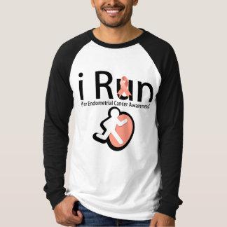 Endometrial Cancer Awareness I Run Tee Shirt