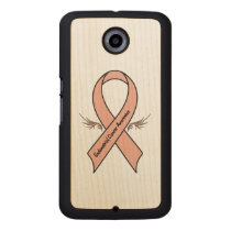 Endometrial Cancer Awareness Wood Phone Case