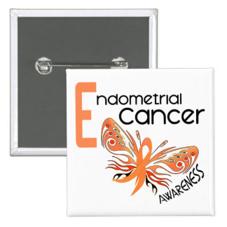 Endometrial Cancer BUTTERFLY 3.1 Pinback Button