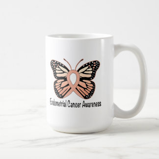 Endometrial Cancer Butterfly Awareness Ribbon Coffee Mug
