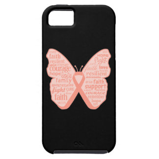 Endometrial Cancer Butterfly Collage of Words iPhone 5 Cover